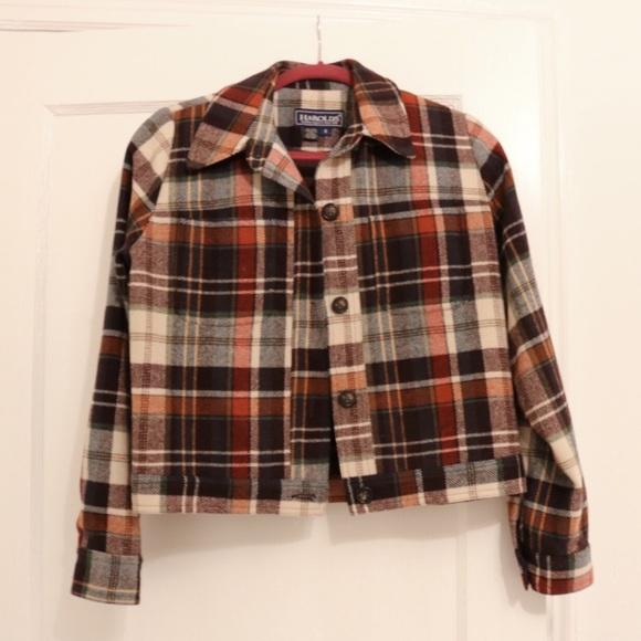 fbf5f8576 Vintage Plaid cropped chore jacket size small